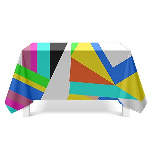DREAMING-Gemalte Geometrische Figur Kunst Tischdecke Home Esstisch Stoff Tv-Schrank Couchtisch Stoff Runde Tisch Tischset 140cm * 180cm