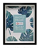 Uniware Picture Frames MDF Wood Smooth Wrap Finish Gift /Family Memory (8' x 10', Black, 1 Piece)