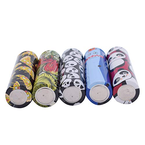 10PCS Pre Cut 18650 Battery Wraps Films Cover Protective Sleeve Heat Shrink Wraps Tubing Tube Film Skin for 18650 Rechargeable Batteries, 5 Styles Assorted Kit with Transparent Storage Box