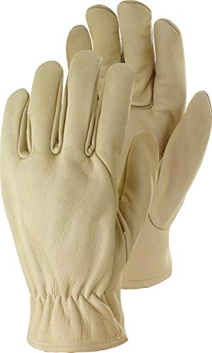 TRIUSO Rindsnappaleder Driver Premium Handschuhe beige (9)