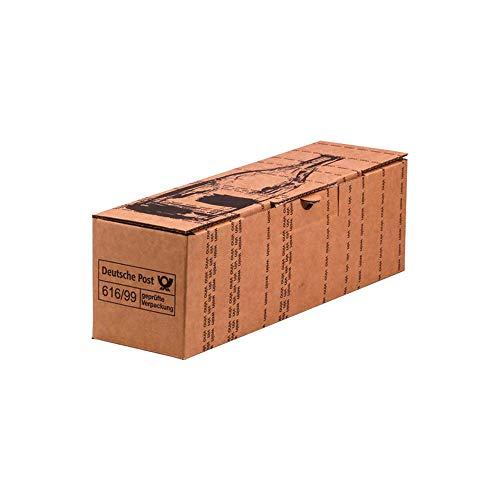 Wertpack 10x 1er Versandkarton, Flaschenversandkarton Post Pac, 36 x 9,5 x 9,5 cm
