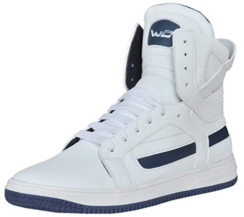 West Code Mens Synthetic Leather Casual Hip Hop Shoes 9078 White 8 Size