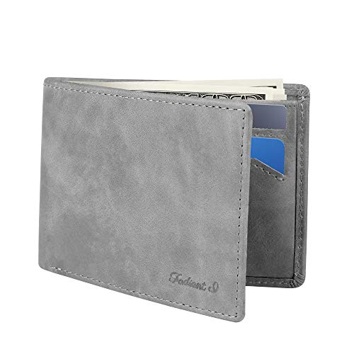 Slim Wallet for Men -Thin Bifold Genuine Leather...