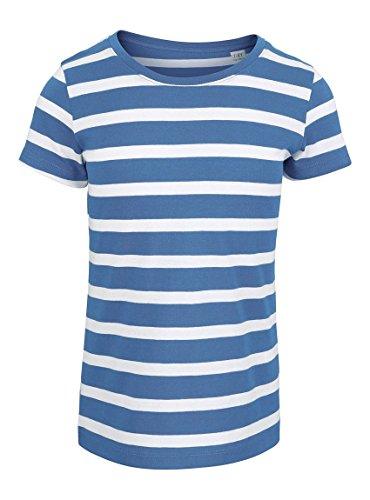 Maratus Mädchen T-Shirt | Kinder Kurzarm Shirt | versch. Farben 98-104 / weiß/blau