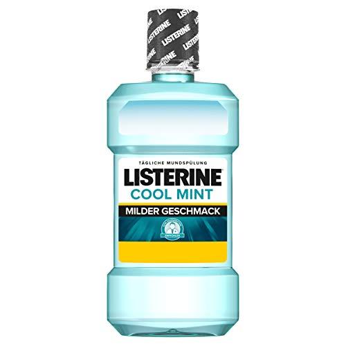 Listerine Cool Mint Mild Mundspülung, Mundwasser mit mildem Minzgeschmack, antibakteriell für gesundes Zahnfleisch (6 x 600 ml)
