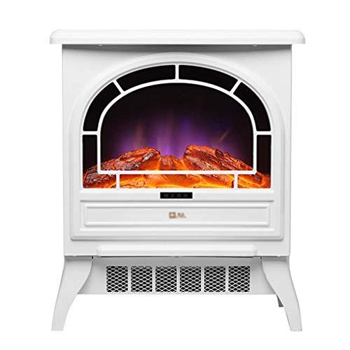 Calefactor Calentador eléctrico interior del calentador chimenea estufa independiente con efecto de llamas realistas - protección contra sobrecalentamiento - 17 pulgadas 1.800 W - blackelectric fuego