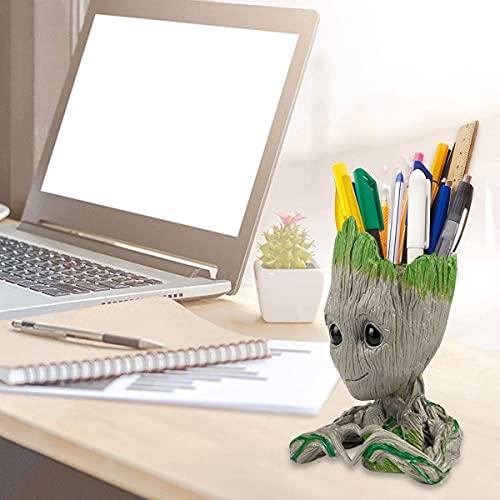 Portalápices para bebé Groot con diseño de árbol y personaje para niños
