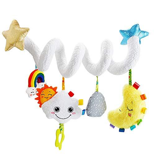 Ebrima Baby Pram Crib Activity Spiral Plush Toys,Hangings Rattle Toy & Travel Activity Toy