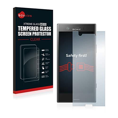 savvies Pellicola Vetro Temperato Compatibile con Sony Xperia XZ1 Compact Protezione Protettivo Schermo Glass Durezza 9H