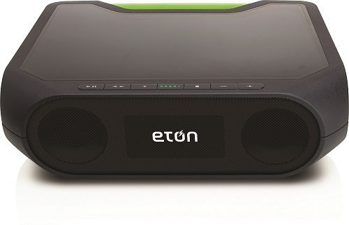 Eton Rugged Rukus Xtreme The Super-Loud, All-Terrain, Smartphone Charging, Dual-Powered Wireless Sound System for Xtreme Audiophiles, NRKS400GR