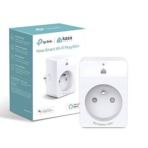 TP-Link Prise Connectée WiFi(KP105FR), Compatible avec Alexa et Google Home pour la Commande Vocale, Contrôler le ventilateur et le chauffage