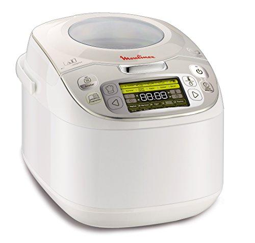 Moulinex Maxichef Advance MK8121 - Robot de cocina con 45 programas de cocción, capacidad 5 litros, programable hasta 24 horas, bol con cpaacidad hasta 4 personas, función diferido programable