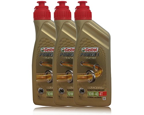 3x 1 Liter Castrol Power 1 Racing 4T 10W-40