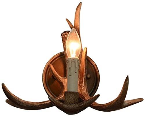 Cuerno de ciervo rústico asta de asta de astuca 1 accesorios de luz
