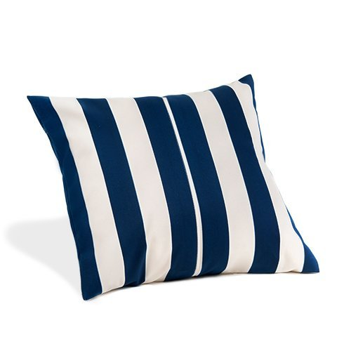 Gardenista Garden Outdoor Pattern Cushion | Hollowfibre Hypoallergenic Filled | Patio Rattan Chair Patterned Furniture Pillow | Water Resistant | 18' Size (Ivory Oasis Stripe)