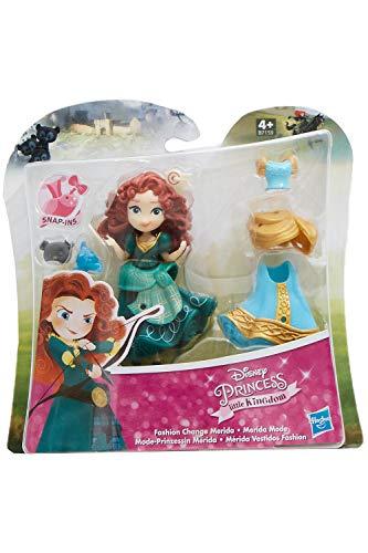 Disney Little Kingdom Mode-Prinzessinnen mit Kleidern und Accessoires, Spielfiguren-Set für Kinder zum Spielen und sammeln (Merida)