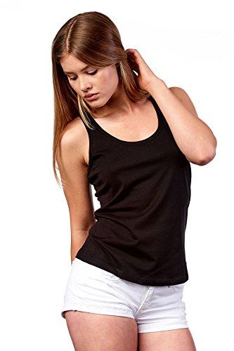 Happy Clothing Damen Top Sommer Sport-Shirt Freizeit Tanktop Allround Shirt, Größe:S, Farbe:Schwarz