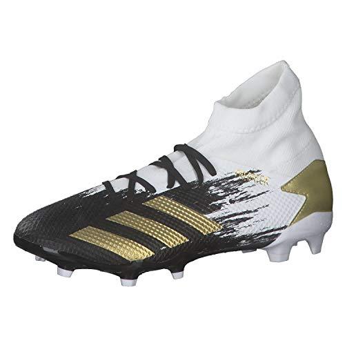 adidas Mens Predator 20.3 FG Soccer Shoe, FTWWHT/Goldmt/CBLACK,41 1/3 EU