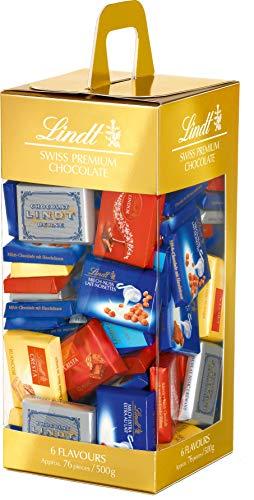 Lindt Naps Schokoladentäfelchen Mischung, Carrier Box, 500 g, Schwarz