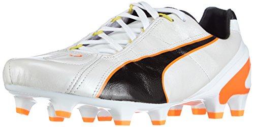 Puma King II EF+ FG Herren Fußballschuhe, Weiß (white-black-fluo flash orange 01), UK 11.5 | EUR 46.5 | US 12.5 | CM 30.5