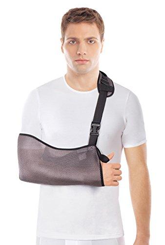 Cabestrillo de brazo; malla transpirable; ligero Medium Gris
