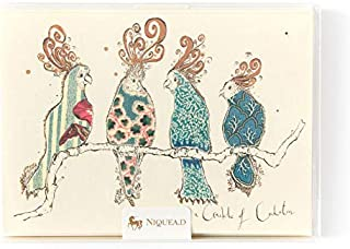 Papyrus By niquea.d a Crackle of Cockatoos Boxed Notes (Set of 10)