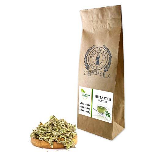 VITAIDEAL VEGAN® Huflattichblätter geschnitten (Tussilago farfara) 100g, rein natürlich ohne Zusatzstoffe.