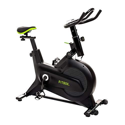 FiTBOX 第3世代フィットネスバイク スピンバイク ダイエット器具 メーカー1年保証 組み立て簡単 静穏 トレ...