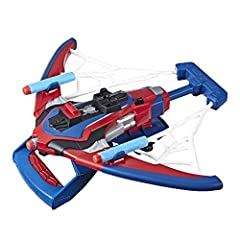 Spider-man-inspired blaster – Peter Parker is an inventive teen whose Tech Skills Help him develop gear like his iconic web shooters. Inspired by Spider-Man inventiveness, web shots gear lets kids imagine blasting enemies with a web-powered blaster. ...