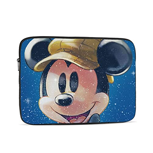 Mickey Cartoon Mouse Waterproof Laptop Shoulder Messenger Bag Polyester Zipper, for 12 inch Case Sleeve Protective Soft Padded