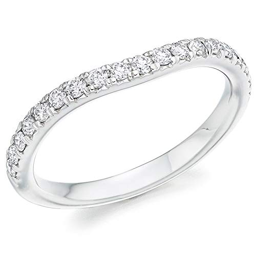 Platinum Micro-Claw Set Diamond Shaped Eternity Ring (L) HET4354A