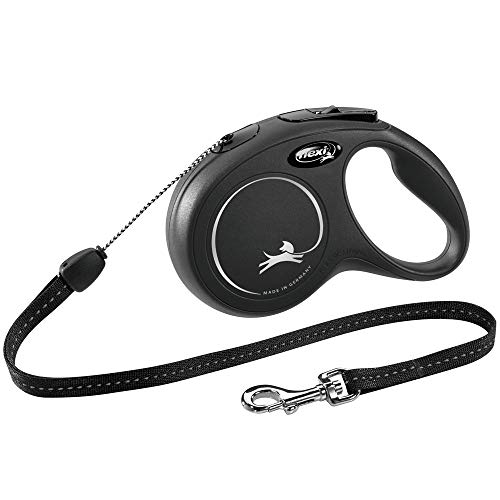 flexi New Classic S Seil 8 m schwarz für Hunde bis 12 kg