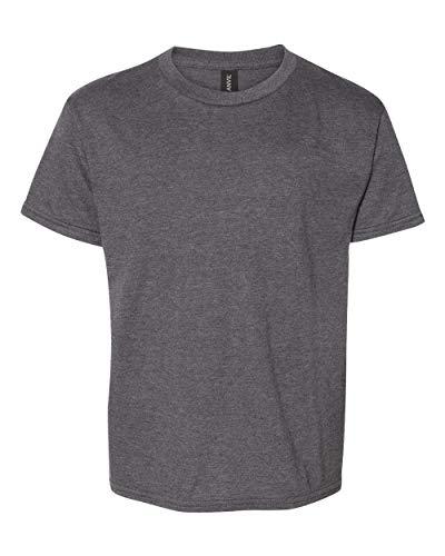 Anvil Boys Fashion Ringspun T-Shirt (990B) -Heather Da -XS