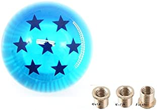 BLUE Dragon Z Ball 7 Star 54mm Shift Knob With Adapters Universal Fit Most Cars
