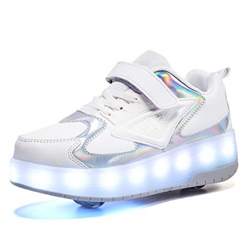 Zapatillas con Ruedas,Niños Niña LED Luces Zapatos 7...