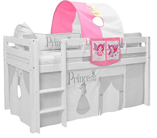 XXL Discount Tunnel + bedtas voor hoogslaper voor meisjes prinses tunnel voor hoog- en stapelbedden