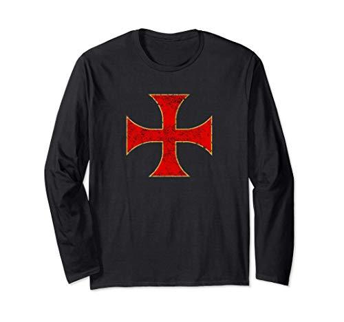 Cruz Caballeros Templarios Regalo Cristiano Hombre Mujer Manga Larga