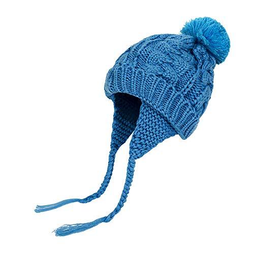 ODJOY-FAN-Lavoro a maglia di lana earmuffs-Inverno bambino linguetta ragazza ragazzo pesca cappello freddo caldo-maglieria