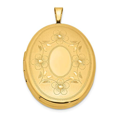 1/20 Gold Filled 26mm Oval Photo Pendant Charm Locket Chain Necklace That Holds Pictures Fashion Jewelry For Women Gifts For Her