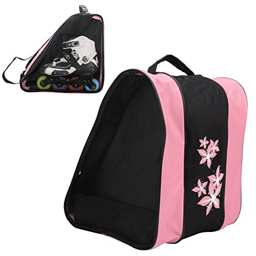 DaMohony 3 Layers Nylon Roller Skate Backpack Single‑shoulder Bag Leisure Sports Packsack