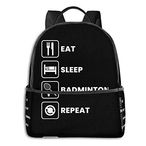zhengdong Eat Sleep Badminton Repeat - Sudadera con capucha para estudiantes (5 £)
