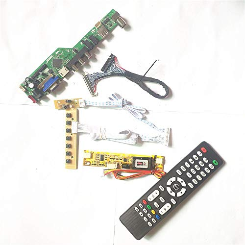 QD15XL02 QD15XL13 HDMI VGA AV USB RF 2CCFL LVDS 20Pin Inverter + Fernbedienung + Tastatur LCD Display Panel T.V53 Drive Card Board Kit (QD15XL02 Rev.01)