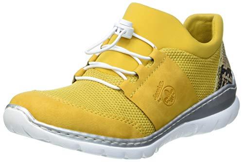 Rieker Damen L32U8 Sneaker, Honig/Yellow/Natur/gelb 69, 41 EU