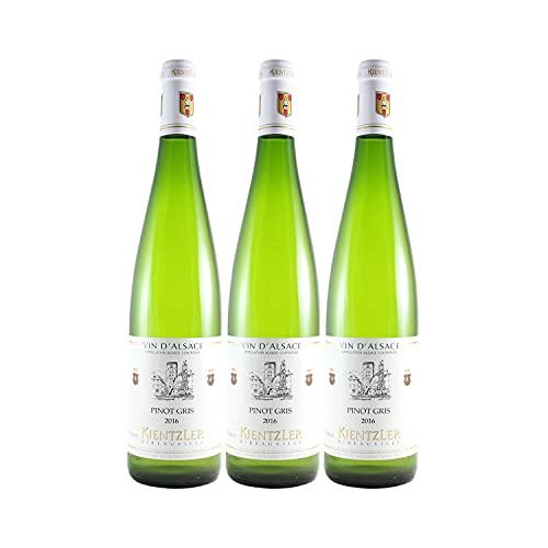 Alsace Pinot Gris Weißwein 2016 - Domaine Kientzler - g.U. - Elsass Frankreich - Rebsorte Pinot Gris - 3x75cl