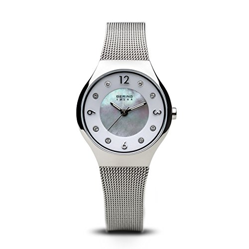 BERING Damen-Armbanduhr Analog Solar Edelstahl 14427-004