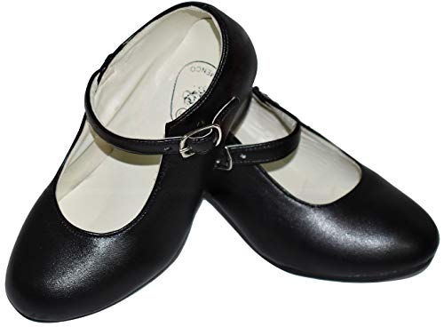 Gojoy shop- Zapato con Tacón de Danza Baile Flamenco o Sevillanas para Niña y Mujer, 5 Colores Disponibles (Negro, 26)