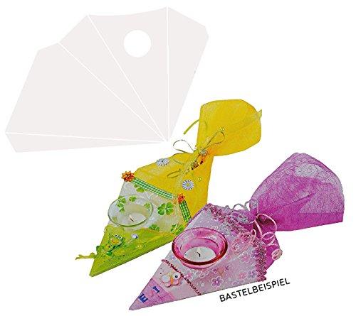 alles-meine.de GmbH Bastelset Windlicht - Schultüte / Zuckertüte - Creapop Folie - selbstklebend z.B. für die Tischdeko zur Einschulung - Schulanfang Deko Kerze Kerzenhalter - Ti..