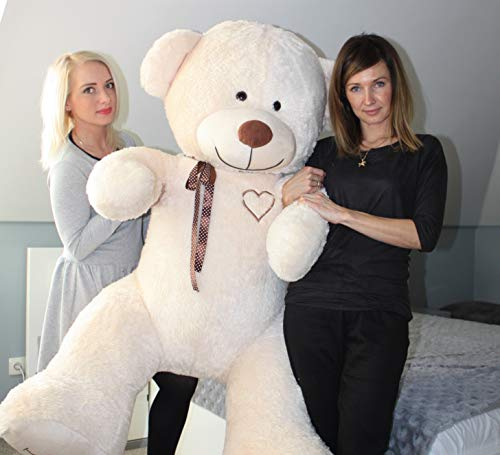 Odolplusz XXL Weicher Plüsch-Teddybär Plüschbär Kuscheltier 190cm Geburtstag Weihnachten Geschenk für Baby Kinder Mädchen Braun