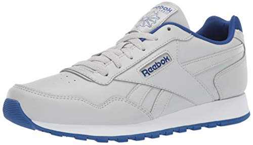 Reebok Men's Classic Harman Run Sneaker, Skull Grey/Collegiate Royal/White, 4 M US