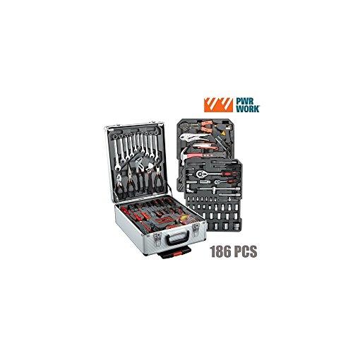 PWR Work IG104971 gereedschapskoffer met 186 gereedschappen